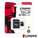 Kingston 金士頓 16GB 80MB/s microSDHC UHS-I C10 記憶卡