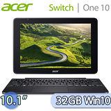 Acer 宏碁 Switch One 10 32GB Win10 (S1003-19QB) 10.1吋 2 in 1變形平板筆電(灰)【送家樂福禮卷$200+acer環保筷】