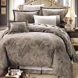【鴻宇HongYew】300織精梳棉/台灣製造/雙人加大七件式床罩組/奧麗薇亞