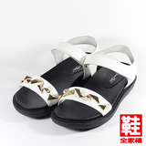 (女) Danbili 金屬扣飾黏帶涼鞋 白 鞋全家福
