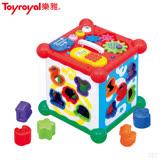 日本《樂雅 Toyroyal》新型聲光益智六面盒玩具( 禮盒包裝)