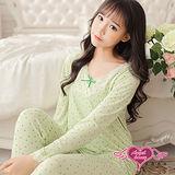 【天使霓裳】哺乳衣 蝴蝶結居家孕婦月子服套裝(綠F)