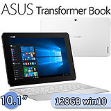 ASUS 華碩 Transformer Book 4G/128GB Win10 (T100HA) 10.1吋四核變形平板(灰)【含鍵盤+Office Mobile/送平板支架+皮套鍵盤組+OTG線】