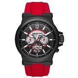 Michael Kors 王者輪脈機械錶-黑x紅