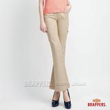 BRAPPERS 女款 新美尻系列-女用中低腰彈性小喇叭褲-卡其
