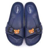 童鞋城堡-拉拉熊 女款 超輕盈室內外拖KM26082-藍