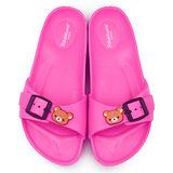 童鞋城堡-拉拉熊 女款 超輕盈室內外拖KM26082-桃