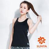 SUNYA 拼接印花長版運動背心(S~XL)
