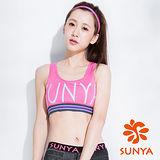 SUNYA 短版運動背心-紅(S~XL)