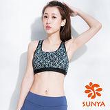 SUNYA 交錯線條短版運動背心(S~XL)