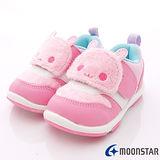 日本Carrot機能童鞋-刷毛可愛粉兔機能款(寶寶段)-KB3814粉-(12.5cm-14.5cm)