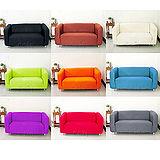 【Osun】一體成型防蹣彈性沙發套、沙發罩素色款(九素色款 4人座)