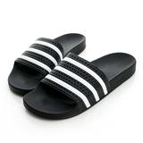 adidas (男)/(女)拖鞋-黑-280647