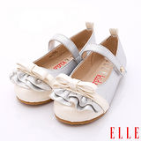 ELLE時尚童鞋-時尚淑女公主鞋款-P52688銀白(15cm~17cm)