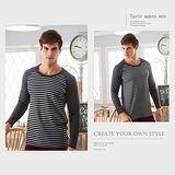 HENIS 速暖絨彈性印花長袖衫(M~XL)