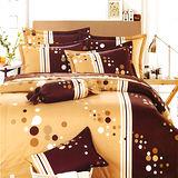 Carolan 咖啡樂園 雙人六件式精梳棉兩用被床罩組