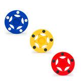 【D.L.D多輪多】直排輪曲棍球餅 紅、黃、藍 三入一組