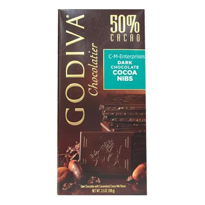 【GODIVA】頂級巧克力磚系列-50%可可豆黑巧克力口味 100g