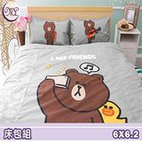 名流寢飾 LINE 熊大愛自拍雙人加大床包組 .