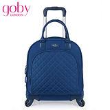 goby果比18吋四輪多功能手提小拉桿箱(萬向輪女性登機行李箱)-藍莓藍