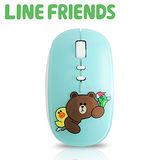 【優惠首選】LINE FRIENDS 浪漫法式鏡面 2.4G無線滑鼠-薄荷綠(LN-LG01)