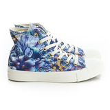CONVERSE (女)帆布鞋(高統)-藍紫-547303C