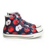 CONVERSE (女)帆布鞋(高統)-藍-549721C