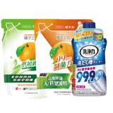 【橘子工坊】濃縮洗衣精補充包1500ml*5包(制菌/一般潔淨)+日本雞仔牌新洗衣槽除菌去污劑550g/組