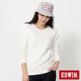 EDWIN 反面剪接拉克蘭長袖T恤-女-米白色