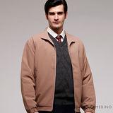 ROBERTA諾貝達 台灣製 休閒百搭 內裡舖棉 夾克外套 ROS68-85咖啡色