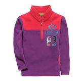 【hilltop山頂鳥】兒童款ZISOFIT保暖刷毛半開襟拉鍊上衣H51C84-紫