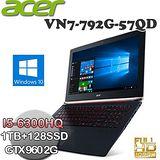 ACER VN7-792G-57QD(17.3FHD/I5-6300HQ/8GB/GTX960/Win10) 高效能戰鬥影音筆電 送電競專用高解析度滑鼠+螢幕貼