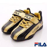 FILA頂級童鞋-經典賽車款-833P-800黑金-(20cm~24cm)