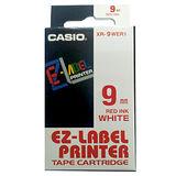 【CASIO 卡西歐】 XR-9WER1 白底紅字 標誌帶/標籤帶/色帶/標籤機色帶 (9m/m×8M)