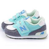 NewBalance 小童 經典574復古運動鞋KG574FYI-水藍
