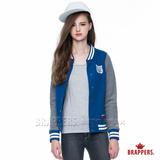 (女) BRAPPERS 女用棒球款運動外套-深藍