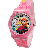 【Disney迪士尼】卡通錶(中)-夏季冰雪奇緣手錶F-53