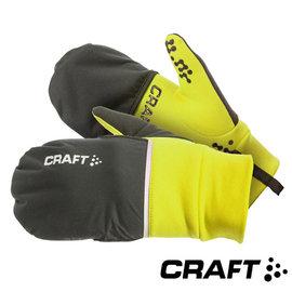 【瑞典 Craft】 HYBRID WEATHER 2in1防風觸控手套(附防潑水護指套)/螢光黃 1903014