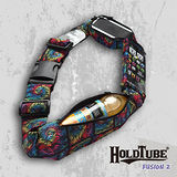 【HOLDTUBE】運動腰帶-三口袋(可拆手機袋)-螺旋圖騰