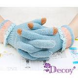 【Decoy】花邊蕾絲*觸控針織手套/二色可選