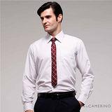 ROBERTA諾貝達 台灣製 商務必備 簡約條紋長袖襯衫 RDB80-92白色