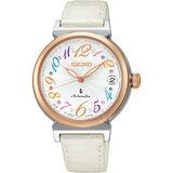 SEIKO LUKIA 限量款美好旅程晶鑽機械錶-銀x白/33mm 4R35-00J0W(SRP868J1)