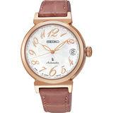 SEIKO LUKIA 美好旅程經典機械錶-珍珠貝x粉藕/33mm 4R35-00J0G(SRP868J1)