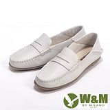 W&M (女)新款經典可踩式雙穿可水洗柔軟防滑鞋底豆豆女鞋-米