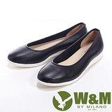 W&M (女)FIT 素色簡約輕便直套女鞋休閒鞋-黑