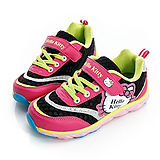 Hello Kitty 輕量透氣腳床型抗菌防臭休閒運動鞋 714885-黑