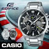 CASIO EDIFICE 世界地圖EFR-303系列 錶盤設計指針錶-黑/48.8mm/EFR-303D-1A