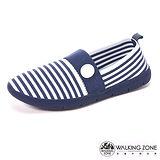 【WALKING ZONE】 (女)3D超彈力條紋女鞋COLOR RUN-藍(另有黑/灰)