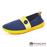 【WALKING ZONE】 (女)COLOR RUN-3D超彈力休閒女鞋-藍(另有黑/灰/紅)
