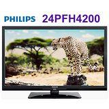 PHILIPS 飛利浦24吋淨藍光液晶顯示器+視訊盒 (24PFH4200) 送創見32G記憶卡*1片+HDMI線+數位天線